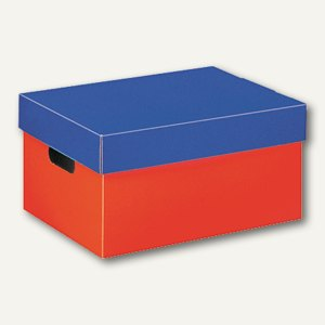 Landré Utensilienbox bis DIN A4, rot/blau L315 x B230 x H160mm, 100420036