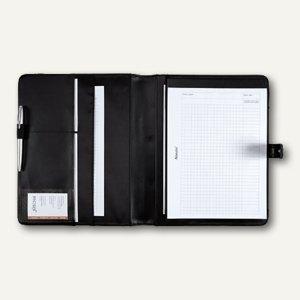 Alassio Schreibmappe FANO, DIN A4, Lederimitat/Nylon, schwarz, 30073