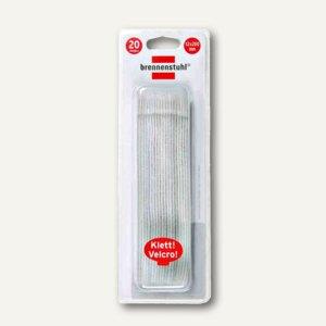 Brennenstuhl Klett-Kabelbinder, 125 x 10 mm, weiß, 20 Stück, 1164350