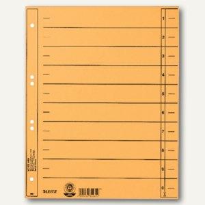 LEITZ Trennblätter, DIN A4, Manilakarton, 230 g/m², gelb, 100 Stück, 1658-00-15