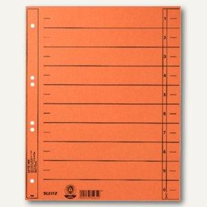 LEITZ Trennblätter, DIN A4, Manilakarton, 230 g/m, orange, 100 Stück, 1658-00-45
