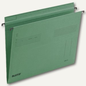 LEITZ SERIE 18 Hängemappe, DIN A4, seitlich offen, grün, 25 Stück, 1815-00-55