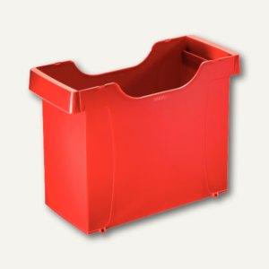 LEITZ Uni Hängemappen-Box Plus, stapelbar, Polystyrol, rot, 1908-00-25
