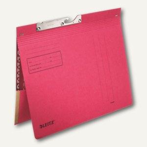 LEITZ Pendelhefter, mit Tasche, DIN A4, 250 g/m², rot, 50 Stück, 2012-00-25