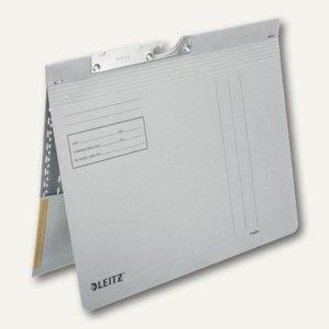 LEITZ Pendelhefter, mit Tasche, DIN A4, 250 g/m², grau, 50 Stück, 2012-00-85