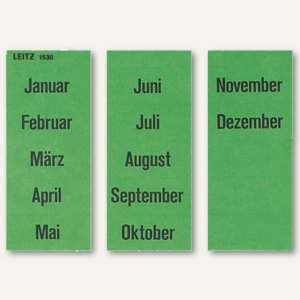Inhaltsschilder Monate