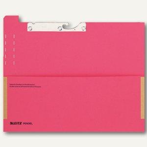 """LEITZ Pendelfehltasche mit Tab """"Fehlt"""", 320g/m², rot, 25 Stück, 2029-00-25"""