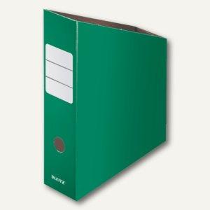 LEITZ Stehsammler, DIN A4, Feinwellpappe, grün, 2426-00-55