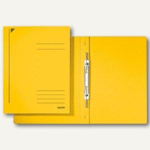 LEITZ Spiralhefter, DIN A4, Colorspankarton, gelb, 25 Stück, 3040-00-15