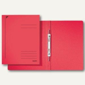 LEITZ Spiralhefter, DIN A4, Colorspankarton, rot, 25 Stück, 3040-00-25