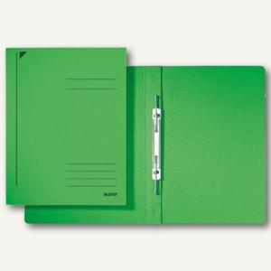 LEITZ Spiralhefter, DIN A4, Colorspankarton, grün, 25 Stück, 3040-00-55