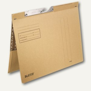 LEITZ Pendelhefter, mit Tasche, DIN A4, 250 g/m², natron, 50 Stück, 2112-00-00
