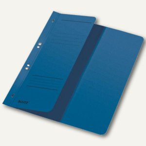 LEITZ Ösenhefter, DIN A4, 1/2-Deckel, Amtsheftung, blau, 50 Stück, 3741-00-35
