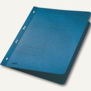 LEITZ Ösenhefter, DIN A4, Manilakarton, blau, 50 Stück, 3742-00-35