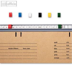 LEITZ Signale, für BETA Hängeregistratur,(B)6 x (H)9 mm, rot, 50 St., 2506-00-25