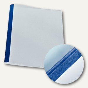 LEITZ Thermobindemappe Leinenoptik, DIN A4, 3 mm, blau, 25 Stück, 177119