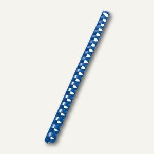 LEITZ Kunststoffbinderücken, DIN A4, 21 Ringe, Ø 10 mm, blau, 100 Stück, 35072