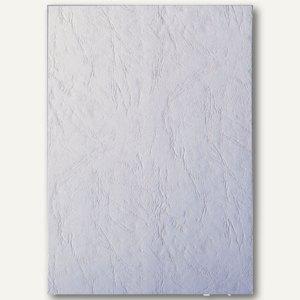 LEITZ Deckblatt, DIN A4, ledergenarbter Karton 240 g/qm, weiß, 100 Stück, 33652