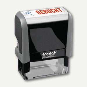 "Trodat Office Printy 4912, Standardtext ""Gebucht"", Eco-Grau, 4912 Office G"
