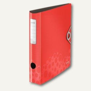 LEITZ Ordner Active Bebop, 180° Heftmech., Rücken 60 mm, PP, rot, 1048-00-25