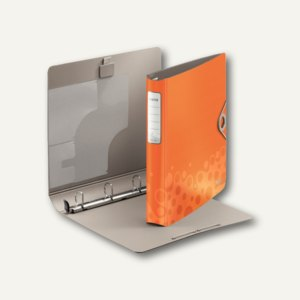 LEITZ Ringbuch Active Bebop, DIN A4, 4 D-Ring, Polyfoam, orange, 4236-00-45