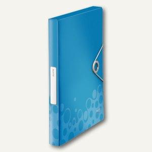 LEITZ Ablagebox Bebop, DIN A4, Rückenbreite: 37 mm, PP, blau, 4568-00-37
