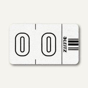 """LEITZ Ziffernsignal Orgacolor """"0"""", auf der Rolle, weiß, 500 Stück, 6600-10-00"""