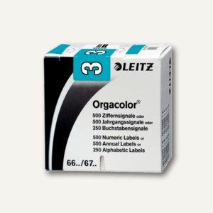 """LEITZ Ziffernsignal Orgacolor """"3"""",auf Rolle, hellbl.,500 Stück, 6603-10-00"""