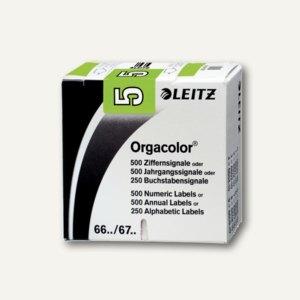 """LEITZ Ziffernsignal Orgacolor""""5"""", auf Rolle, hellgrün, 500 Stück, 6605-10-00"""