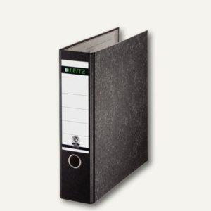 LEITZ Wolkenmarmor-Ordner, 180 Grad, DIN A4, 80 mm, schwarz, 1070-00-00