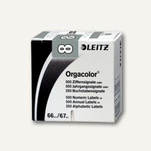 """LEITZ Ziffernsignal Orgacolor """"8"""", auf Rolle, grau, 500 Stück, 6608-10-00"""