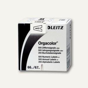 """LEITZ Buchstabensignal Orgacolor """"A"""", auf Rolle, weiß, 250 Stück, 6610-10-00"""