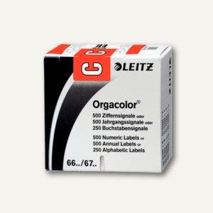 """LEITZ Buchstabensignal Orgacolor """"C"""", auf Rolle, rot, 250 Stück, 6612-10-00"""