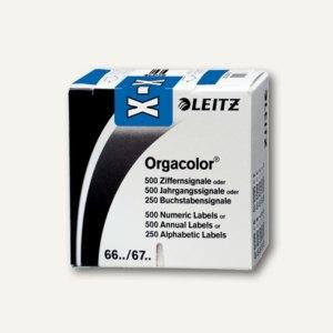 """Buchstabensignal Orgacolor """"X"""", auf Rolle, dunkelblau, 250 Stück, 66331000, 6633"""