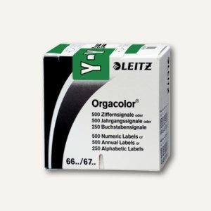 """LEITZ Buchstabensignal Orgacolor """"Y"""", auf Rolle, dunkelgrün, 250 St., 6634-10-00"""