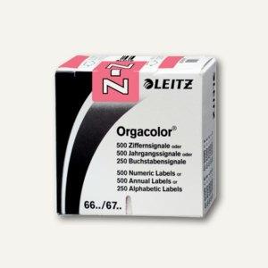 """LEITZ Buchstabensignal Orgacolor """"Z"""", auf Rolle, rosa, 250 Stück, 6635-10-00"""