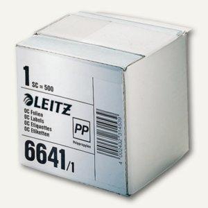 LEITZ Schutzfolienschildchen auf Rolle, transparent, 500 Stück, 6641-10-00