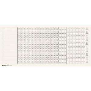 LEITZ Organisationsstreifen, Skala 1/Skala 2, weiß, 61610001, 6161-00-01