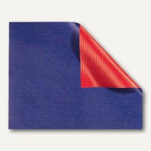 Geschenkpapier blau-hochrot