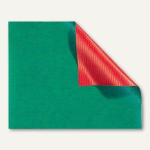 Geschenkpapier hochrot-grün