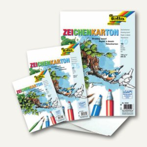 Folia Zeichenkarton DIN A3, 200 g/m², weiß, 25 Blatt, 8700