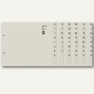 LEITZ Tauenpapier-Register, A-Z, grau, 75 Sätze, 1351-00-85