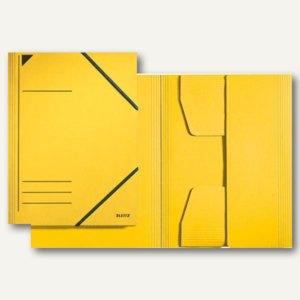 LEITZ Eckspannermappe, DIN A4, 300 g/qm, Karton, gelb, 3981-00-15