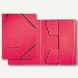 LEITZ Eckspannermappe, DIN A4, Karton 300 g/qm, rot, 3981-00-25