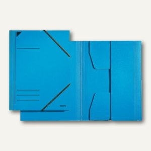LEITZ Eckspannermappe, DIN A4, Karton 300 g/qm, blau, 3981-00-35