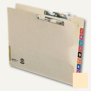 LEITZ Pendeltasche Orgacolor, DIN A4, chamois, 230 g/m², 50 Stück, 2137-00-11