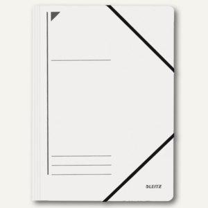LEITZ Eckspanner, DIN A4, Colorspankarton 400 g/qm, weiß, 3980-00-01