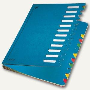 LEITZ Pultordner Deskorganizer Color, DIN A4, 1-12, blau, 5912-00-35