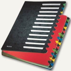 LEITZ Pultordner Deskorganizer Color, DIN A4, 1-24/A-Z, schwarz, 5914-00-95