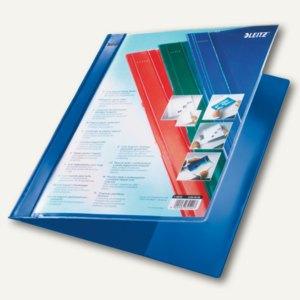 LEITZ Schnellhefter Exquisit mit Präsentationstasche, blau, 4193-00-35